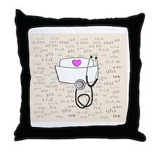 Nurse Cream Throw Pillow