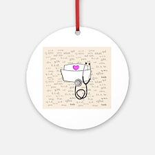 Nurse Cream Round Ornament