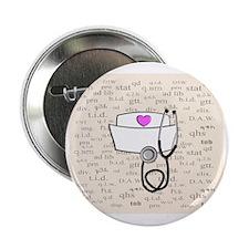 """Nurse Cream 2.25"""" Button"""