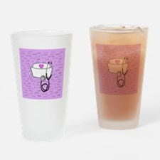 Nurse Pink Drinking Glass