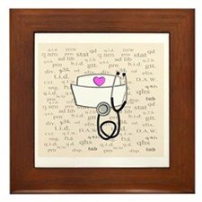Nurse Cream Framed Tile