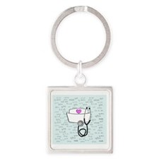 Nurse Square Keychain
