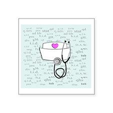 """Nurse Square Sticker 3"""" x 3"""""""