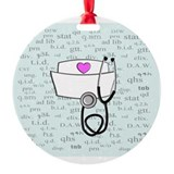Nurse Round Ornament