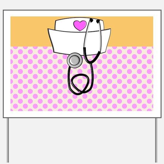 Nurse Pink Orange Yard Sign