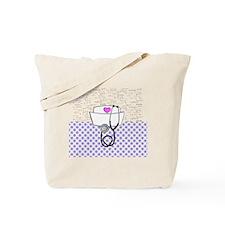 Nurse Purple Tote Bag