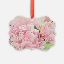 Pink Peonies Ornament