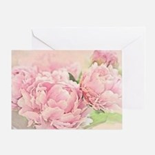 Pink Peonies Greeting Card