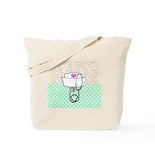 Nurse Teal Tote Bag