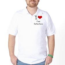 I Love Fire Detectors T-Shirt
