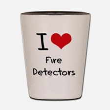 I Love Fire Detectors Shot Glass