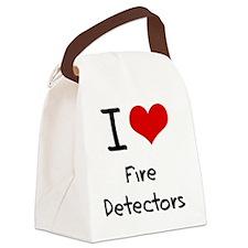 I Love Fire Detectors Canvas Lunch Bag