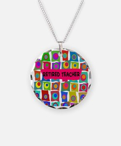 retired teacher 2 Necklace