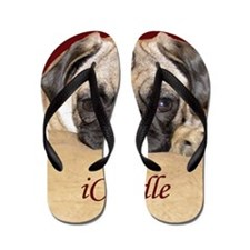 Adorable iCuddle Pug Puppy Flip Flops