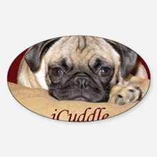 Adorable iCuddle Pug Puppy Decal