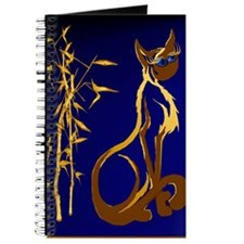 Sitting gold Siamese Kitty Poster Journal