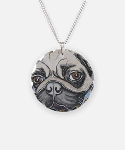 """In your face"" pug by Artwor Necklace"
