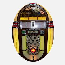 Wurlitzer bubbler jukebox Oval Ornament