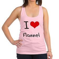 I Love Flannel Racerback Tank Top