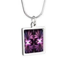 Fairy Wings Silver Square Necklace