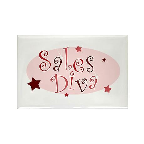 """Sales Diva"" [red] Rectangle Magnet"