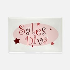 """Sales Diva"" [red] Rectangle Magnet"