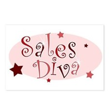 """""""Sales Diva"""" [red] Postcards (Package of 8)"""