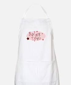 """Sales Diva"" [red] BBQ Apron"