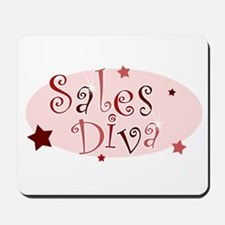 """Sales Diva"" [red] Mousepad"