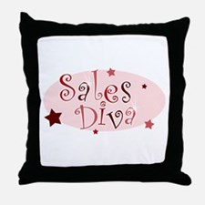 """""""Sales Diva"""" [red] Throw Pillow"""