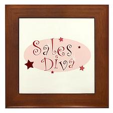 """""""Sales Diva"""" [red] Framed Tile"""