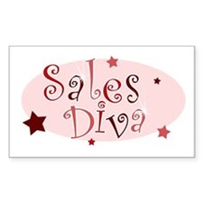 """""""Sales Diva"""" [red] Rectangle Decal"""