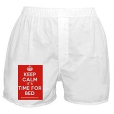 Keep Calm its Time For Bed Boxer Shorts