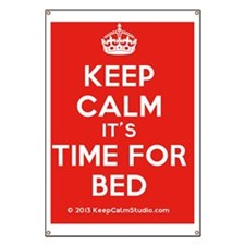 Keep Calm its Time For Bed Banner