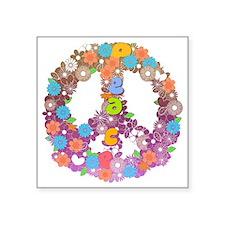 """Colorful peace Square Sticker 3"""" x 3"""""""