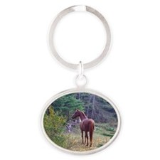 Clifford in the Woods Oval Keychain