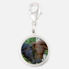 Best Friends Forever Silver Round Charm