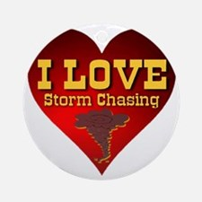 I Love Storm Chasing Round Ornament