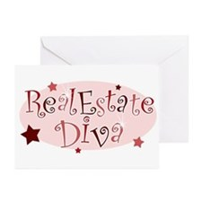 """Real Estate Diva"" [red] Greeting Cards (Package o"