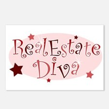 """Real Estate Diva"" [red] Postcards (Package of 8)"