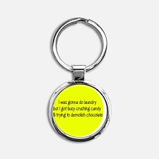 candyyellow Round Keychain