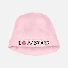 I Heart My Briard baby hat