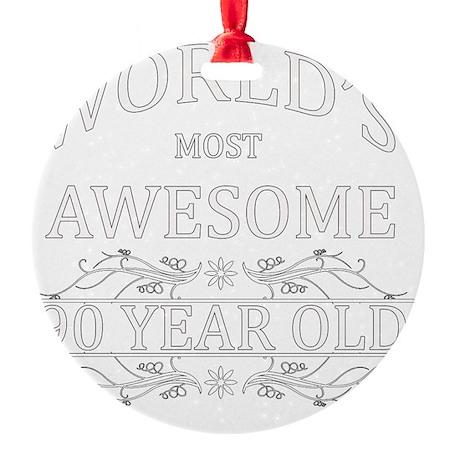 90 Round Ornament