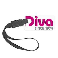 Diva Since 1974 Luggage Tag