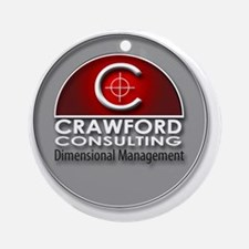 Crawford Consulting Round Ornament