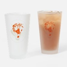 Tiger Face Close-Up Drinking Glass
