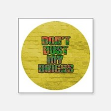 "Button-Large Square Sticker 3"" x 3"""