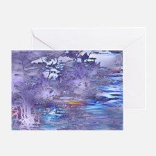 River Fantasy Trip in Purple Greeting Card