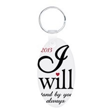 Wedding - I Will Keychains