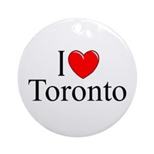 """I Love Toronto"" Ornament (Round)"